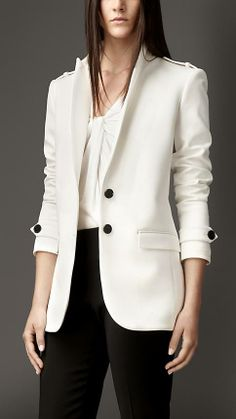 Burberry London Straight Fit Tailored Jacket
