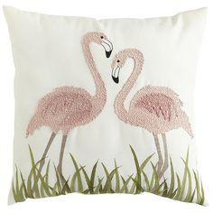 We hear that flamingos mate for life, and you probably won't want to part with Pier 1's adorable couple embroidered on this pillow.