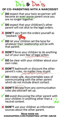The Do's and Dont's of Co-parenting with a Narcissist