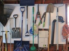 No matter what room you want to organize, peg board can help, and it's affordable.