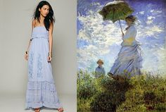 10 Fine-Art Inspired Dresses To Turn Any Closet Into A Museum - Claude Monet - Woman With A Parasol, 1875
