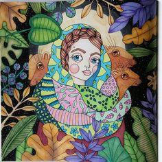 Instagram media kelziecan - From Sagolikt by Emelie Lidehall Oberg #coloringbook #coloringforadults #sagoliktenmålarbok #sagolikt #emelielidehällöberg