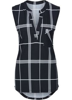 New Womens Tops Fashion 2017 Women Summer Chiffon long Blouse Sleeveless  Casual Shirt Striped V-Neck Top Black  White 1d2ad2b95f