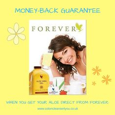 Isn't it great that all Forever's products, when bought direct from a Forever Business Owner (like me), come with a 60-Day Money-Back Guarantee? This of course includes Aloe Vera Diet, which you can buy securely here: www.aloe-vera-diet.co.uk (vanilla) www.foreverclean9shop.com (chocolate) #aloeveradiet #clean9diet #foreverfitprogramme