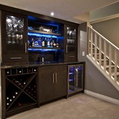 Instead of bar in basement