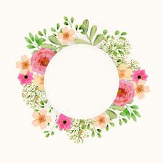 Скрапбукинг, рукоделие, Картинки с цветами Easy Watercolor, Watercolor Cards, Watercolor Flowers, Flower Frame, Flower Art, Border Tattoo, Overlays Picsart, Frame Template, Frame Clipart