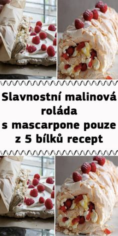Pavlova, Recipies, Food And Drink, Lunch, Cereal, Drinks, Breakfast, Cake, Mascarpone