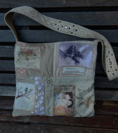 Mixed Fabric Quilted Patchwork Bag Arise Shine by CrossMyHeartBags