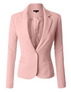 LE3NO Womens Classic Fitted Boyfriend Blazer Jacket lots of colors under $30