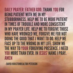 Daily Prayer.. Two prayers cause I need them today