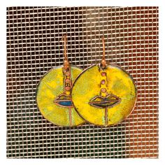Copper Enamel Earrings (15.00 EUR) by Karasisi - handmade - jewelry - jewellery - artisan - etsy