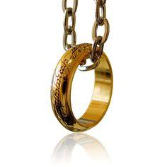 Réplique officielle de l'anneau unique du Seigneur des Anneaux  (taille 62)