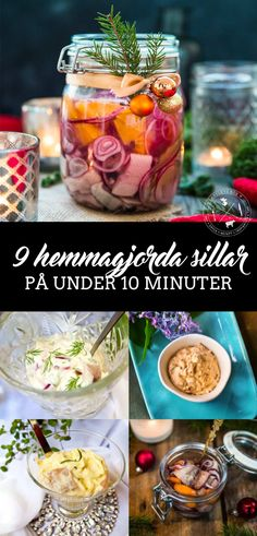 9 hemmagjorda sillar på under 10 minuter Vegetables, Food, Essen, Vegetable Recipes, Meals, Yemek, Veggies, Eten