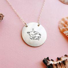 Handmade Orca (Killer Whale) Engraved Necklace by Kohola Kai Creative on Etsy