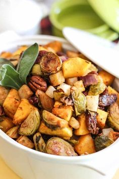 Roasted Brussels Sprout and Butternut Squash