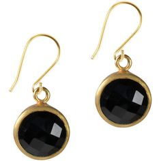 Flora Bee Gem Drop Earrings Black Onyx And Gold ($105) ❤ liked on Polyvore featuring jewelry, earrings, gemstone drop earrings, gold gemstone earrings, gemstone earrings, gold earrings and gem jewelry