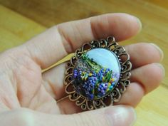 Polymer Clay Pendant, Polymer Clay Jewelry, Gemstone Rings, Workshop, Jewelry Making, Pendants, Jewellery, Gemstones, Landscape
