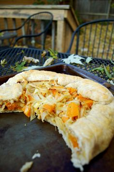 Butternut Squash and Caramelized Onion Galette recipe