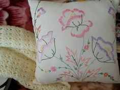 Lovely hand embroidered pillow