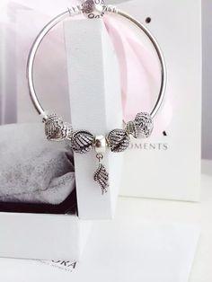 50% OFF!!! $159 Pandora Bangle Charm Bracelet Silver. Hot Sale!!! SKU: CB01792 - PANDORA Bracelet Ideas