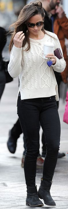 Pippa's sweater and boots outfit? SO KATE.