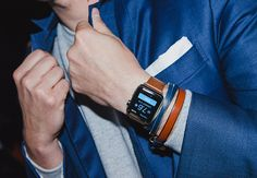If I get a Smart Watch, it's definitely going to have a leather band like this one! 1410301677954_gq apple iwatch 01
