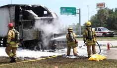 Updated w/video: All eastbound lanes open, one westbound, after semitrailer fire