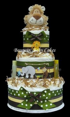 SAFARI... LOVE! Diaper cake! cause you have to have one at a baby shower!