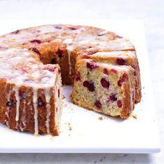 Cranberry Glazed Orange Layer Cake Recipe — Dishmaps