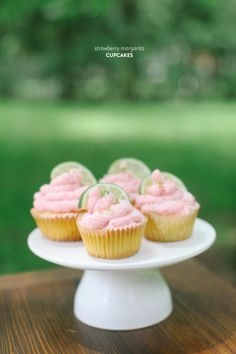 Strawberry Margarita Cupcakes | SMP Living, Read more - http://www.stylemepretty.com/living/2013/06/21/strawberry-margarita-cupcakes/