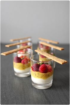 cream cheese mousse with exotic fruit coulis -French recipe