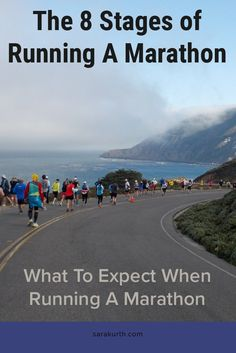 You've trained and tapered. Hydrated and Carboloaded. You've packed and prepped and killed time at the start area in the cold and dark. Now... at long last... it's time to run! These are the stages I go through during every marathon, only on my blog #running #marathon