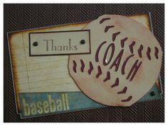 sports mania cricut cartridge | Thanks COACH Card | Scrappin Stuff Blog