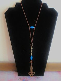 Vintage 1920s 1930s art deco necklace pendant with vintage beads. Flapper necklace. Edwardian style necklace. steampunk necklace.. $28.00, via Etsy.