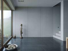 Wall-mounted decorative panel / concrete / smooth FIBREC: INTERIOR Rieder Smart Elements GmbH