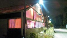 night lights in the greenhouse
