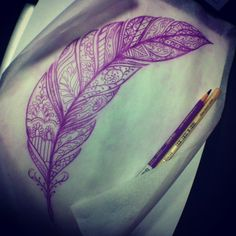 its a feather and its purple