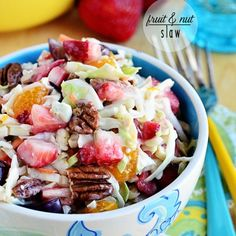 CABBAGE SLAW SALAD  W/ FRUIT,NUTS & BLUE CHEESE