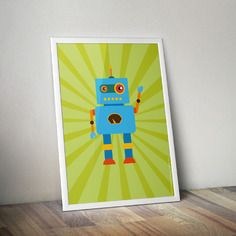 Collection robot fantaisie - format a3 - chambre enfants