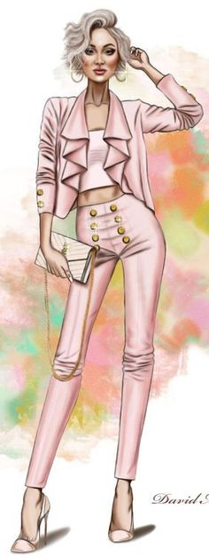 Fashion Illustration by David Mandeiro
