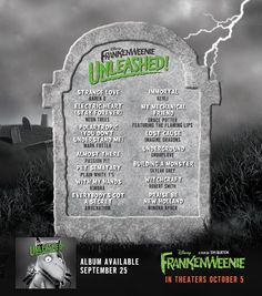 Frankenweenie Unleashed - Soundtrack Of The New Burton Movie
