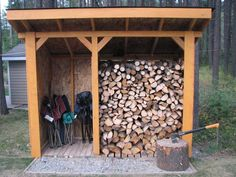Summer's Last DIY: a Firewood Shed in Time for Fall