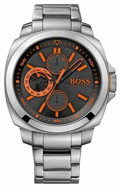 Hugo Boss Orange 1513117 - Out of stock. The Hugo Boss watch model code 1513117 is a striking and bold designed watch by Hugo Boss that looks great on the wrist with the bold orange features. With a crown protection, day and date subdials and high quality brushed stainless steel case and bracelet. This watch is water resistant to 30M.. Official Hugo Boss Orange UK retailer. The Hugo Boss Orange 1513117 comes with free delivery, 2 year guarantee, 30 day returns and box.