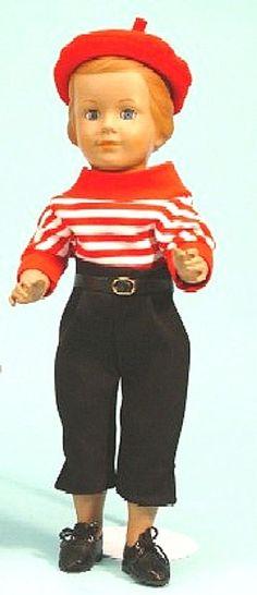 Schildkröt Puppe Neuauflage der Jutta von 1952, 46 cm groß