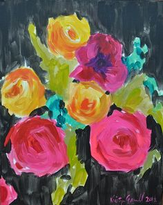 Flowers on black - Kristy Gammill
