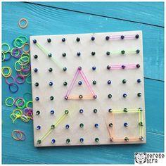 Геоборд - чудесная геометрическая игра для вас и ваших детей.  Размер: 19,5 x…