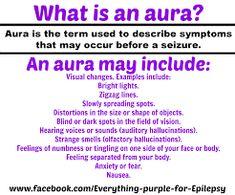 seizure/aura's