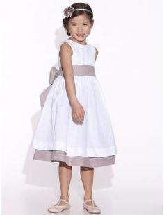 Vestido niña de honor espalda descubierta - forrado de gasa de algodón