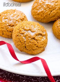 Healthy Gingersnap Cookies Recipe -- Traditional Gingersnaps made healthy without eggs and butter. Same spicy, sweet and chewy cookies like your grandma used to make. Vegan.