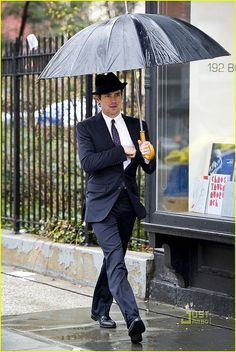 Matt Bomer - How cool can you look with an umbrella? I just love the way he dresses both on and off White Collar.  http://halfwhiteboy.blogspot.com/2012/03/man-of-style-matt-bomer.html